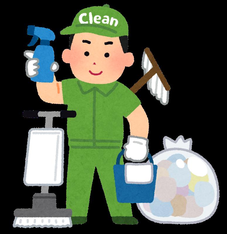 40代男性清掃作業員